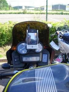 29. Mai 2009 - Rundtour durch Hessen - Navi im Cockpit - Im Einsatz (Zum Vergrößern anklicken/ca. 485 KB)