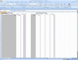 Exceltabelle: Umrechnung Koordinanten (Zum Download anklicken/ca. 4 KB)