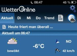 25. März 2013 - Morgens in Deutschland (2), Wetter-App