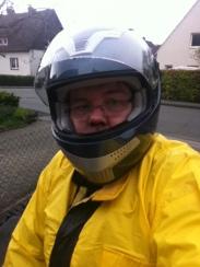 26. April 2014 - Regenfahrt (Regenkombi/nasser Helm)