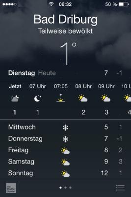 03. März 2015 - Wetter und Temperatur
